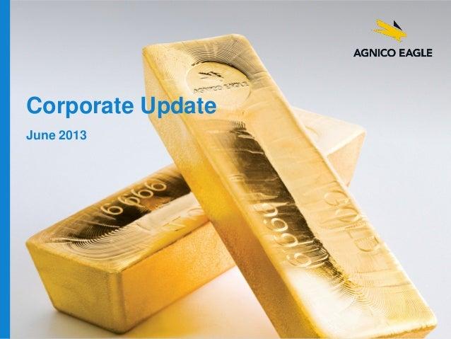Corporate Update June 2013