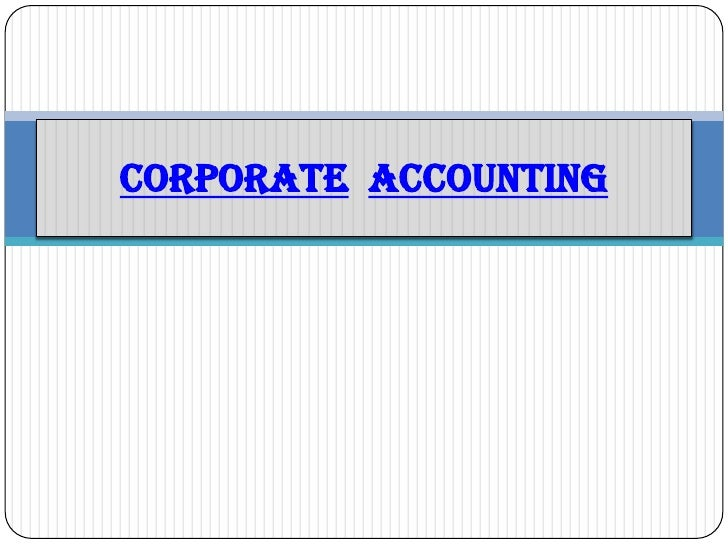 CORPORATEACCOUNTING<br />