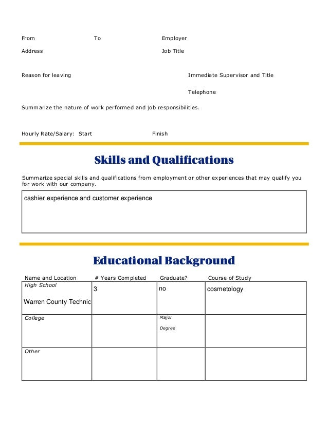 special skills to list on job application