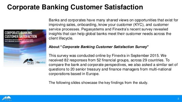 Corporate Banking Customer Satisfaction A Study By