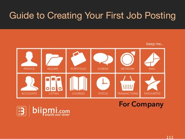 Guide to Creating Your First Job Posting  For Company