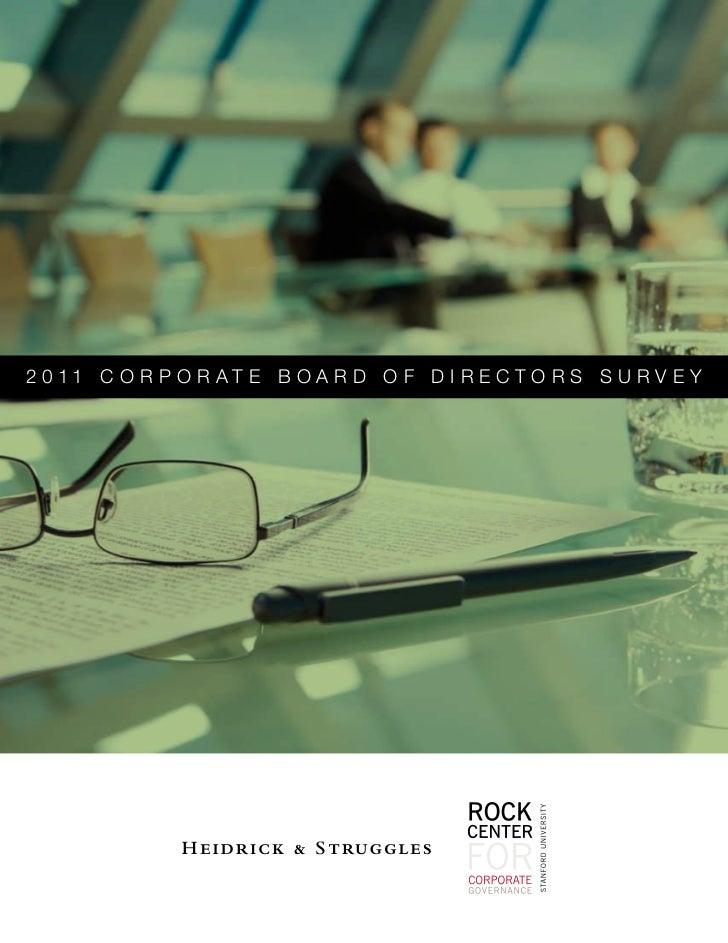 2 0 11 C O R P O R AT E B O A R D O F D I R E C T O R S S U R V E Y     1                         2011 Corporate Board of ...