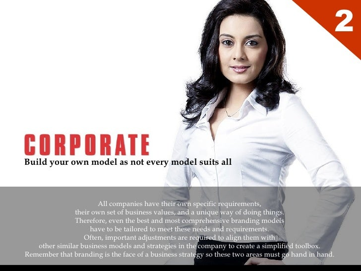 Build your own model as not every model suits all   2 All companies have their own specific requirements,  their own set o...