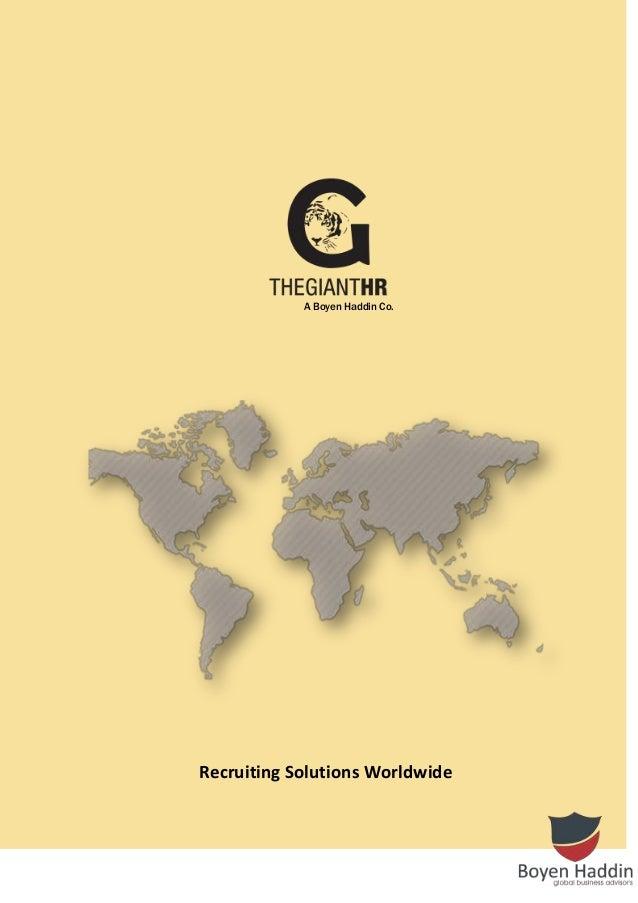 Recruiting Solutions Worldwide A Boyen Haddin Co.