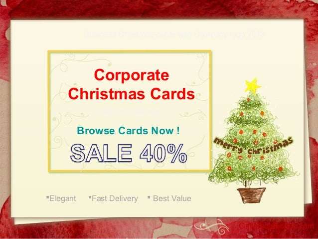Business Christmas cards with Company logo 2013  Corporate Christmas Cards Gallery Collection  Browse Cards Now !  Elegan...