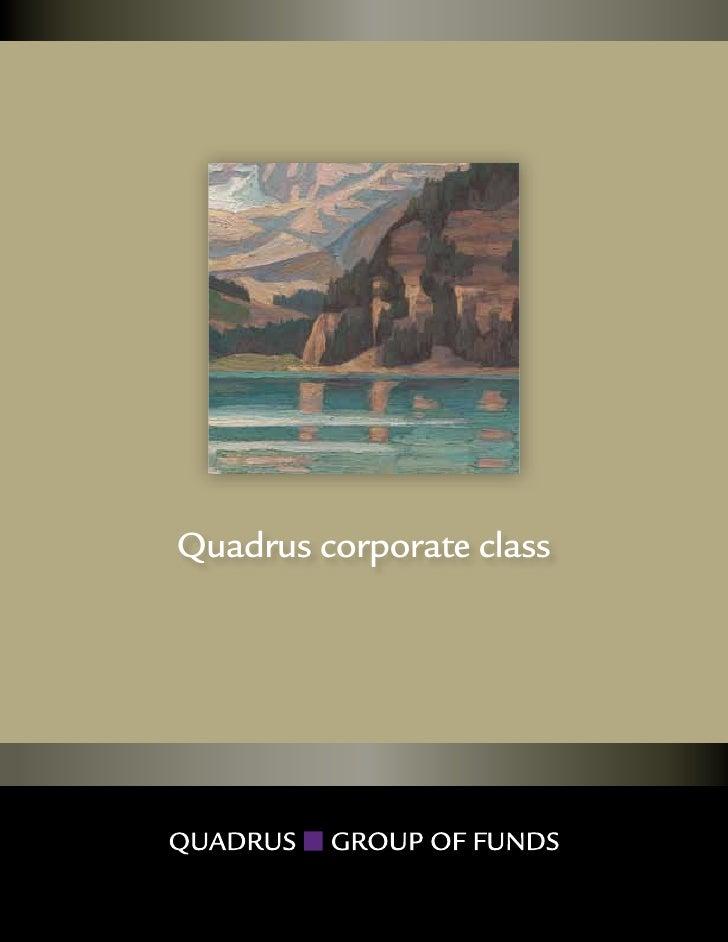 Quadrus corporate class           1