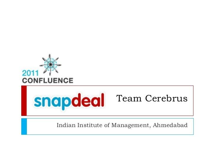 Team CerebrusIndian Institute of Management, Ahmedabad
