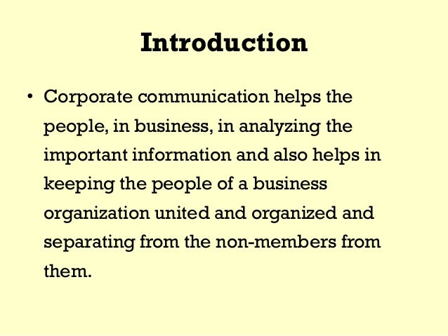 Corporate communication in business  Slide 2