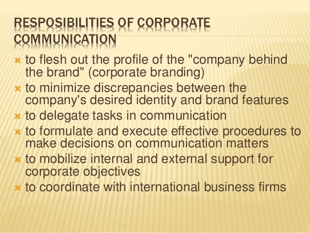 link between corporate communication and corporate objectives