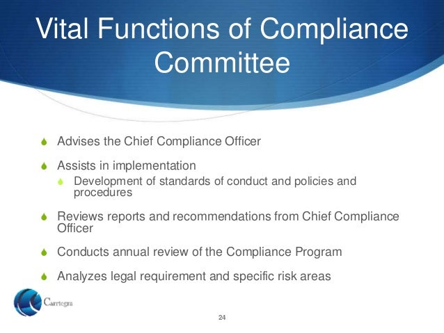 Corporate compliance overview - Corporate compliance officer ...