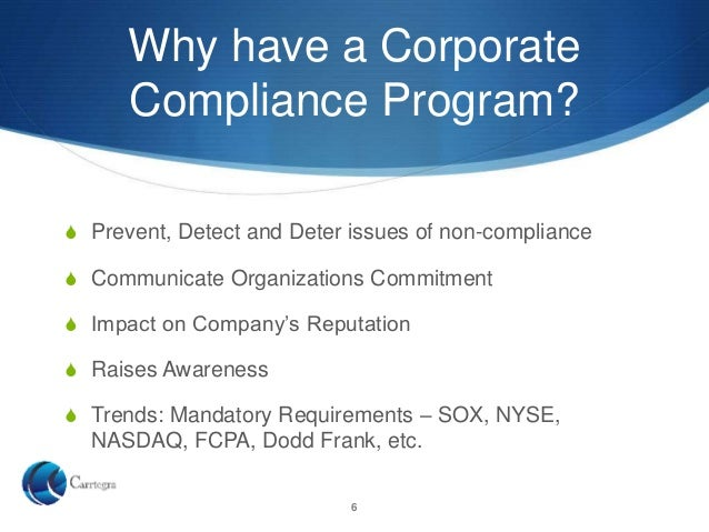 Corporate Compliance Overview