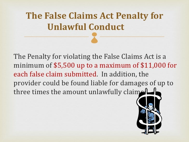 false claims act There are many lessons in the history of the false claims act (fca), including how fraud has been a plague without the help of whistleblowers.