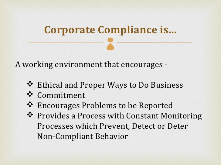 Corporate compliance powerpoint - Corporate compliance officer ...