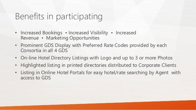 Corporate consortia in hospitality section 1