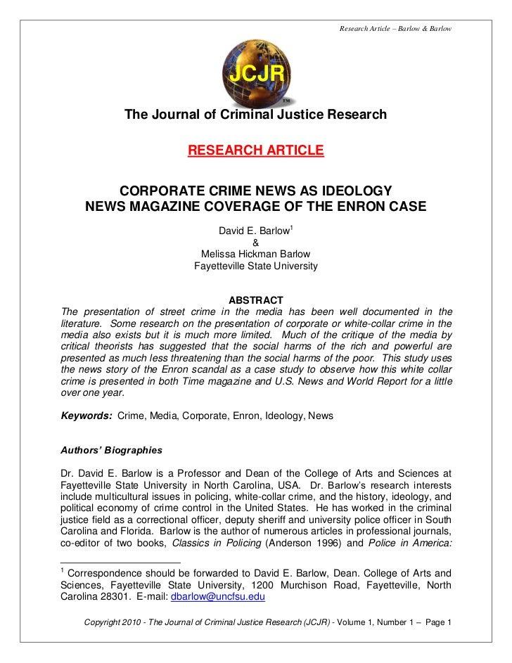 Research Article – Barlow & Barlow                                          JCJR                                          ...