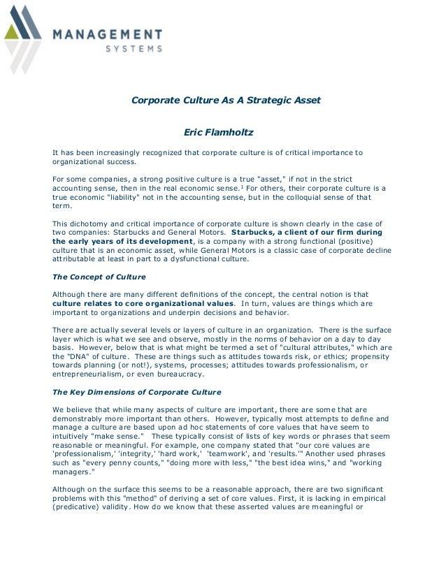 importance of corporate culture