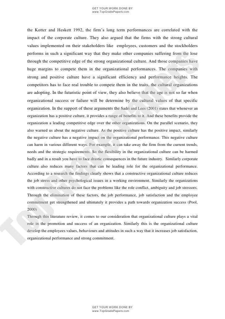 corporate culture effect on performance enhancement academic essay  topgradepapers com 3