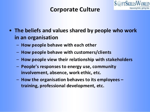 what is corporate culture pdf