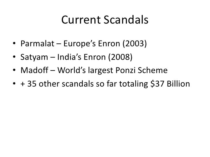 satyam scandal essay Get this full paper on corporate scam chosen: satyam scandal event the founder and chairman of satyam computer services the indian it outsourcing company confessed to fraudulently inflating profits overstating assets and suppressing.