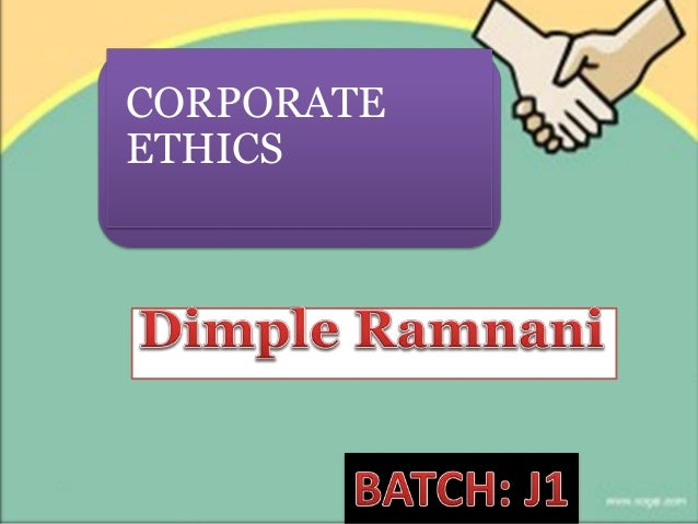 business ethics topic