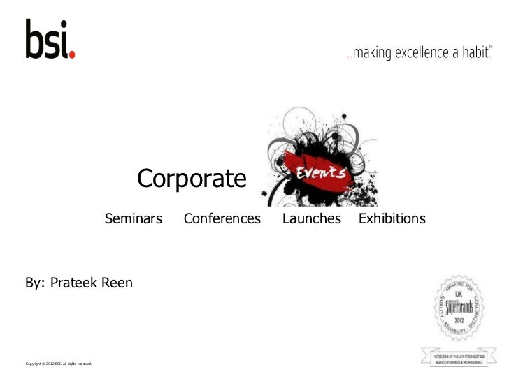 Corporate                                             Seminars   Conferences   Launches   ExhibitionsBy: Prateek ReenCopyr...
