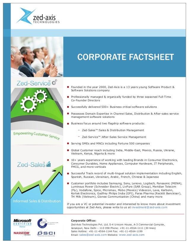 corporate fact sheet free pdf template download kellogg company