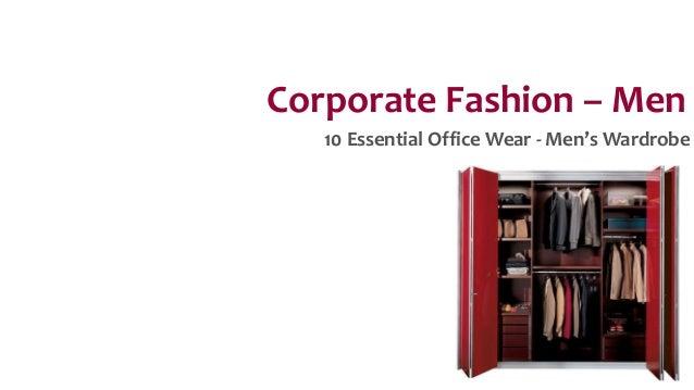 Corporate Fashion – Men 10 Essential Office Wear - Men's Wardrobe