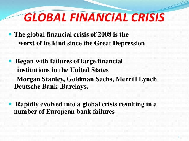 Global economic crisis thesis statement