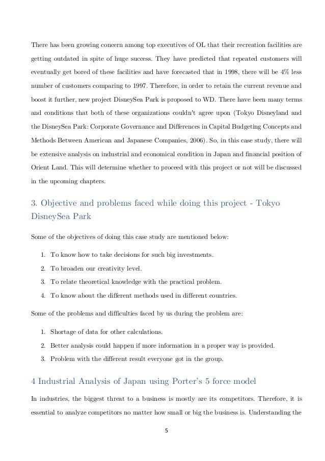 Corporate Finance - Disney Sea Park Project