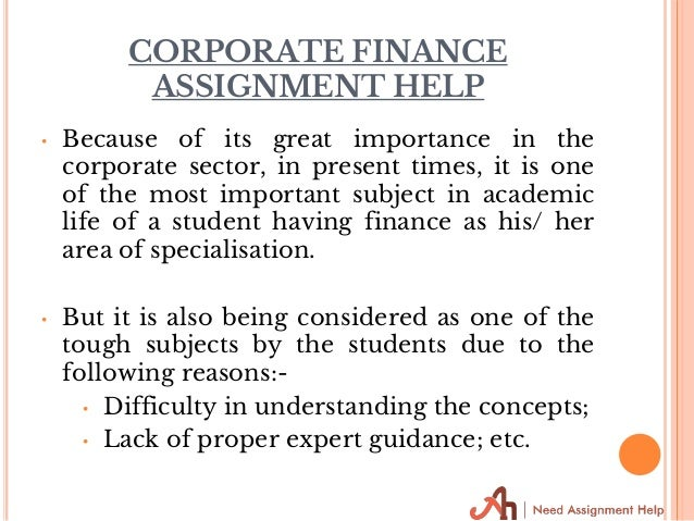 corporate finance assignment help statement 11 corporate finance assignment help