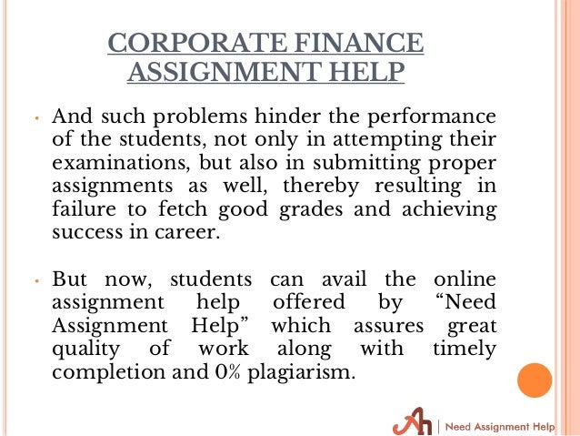 corporate finance assignment help 12 corporate finance assignment help