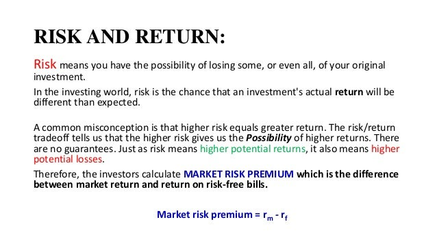 Corporate Finance Chapter 12 Risk Return And Capital Budgeting