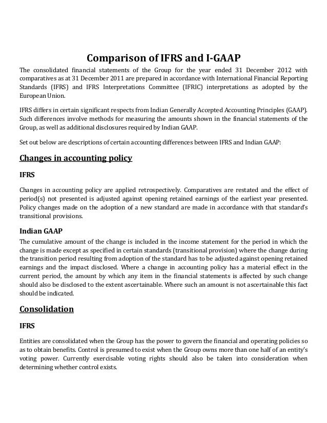 differences between ifrs a ifrs Here is a summary of 5 areas of existing differences between ifrs and us gaap frameworks and any corresponding guidance 5 differences between us gaap and ifrs.