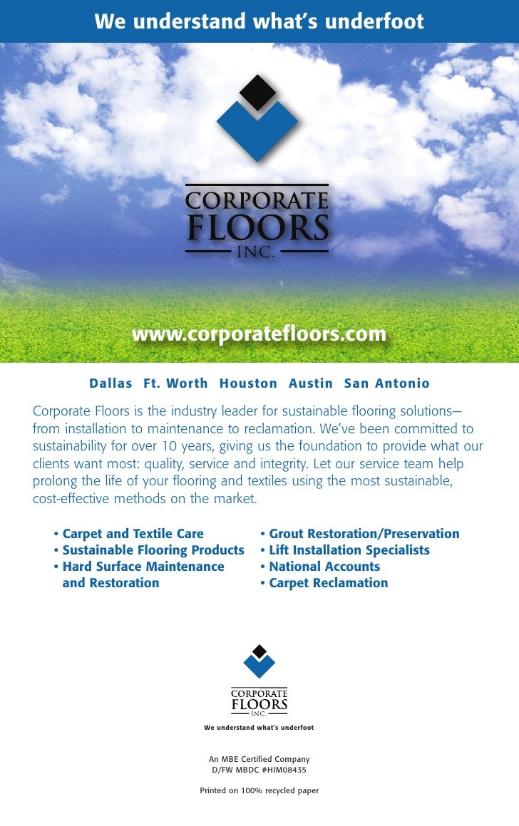 We understand what's underfoot Floors                                Corporate                 www.corporatefloors.com    ...