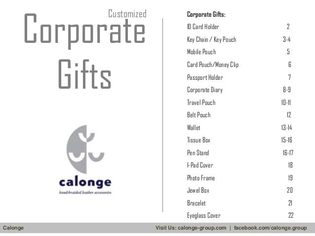 Corporate Gifts  Customized  Corporate Gifts: ID Card Holder Key Chain / Key Pouch  2 3-4  Mobile Pouch  5  Card Pouch/Mon...