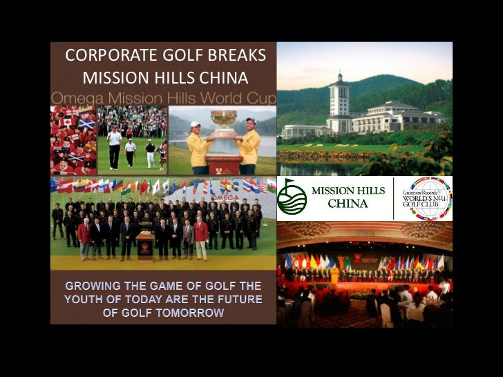 CORPORATE GOLF BREAKS  MISSION HILLS CHINA