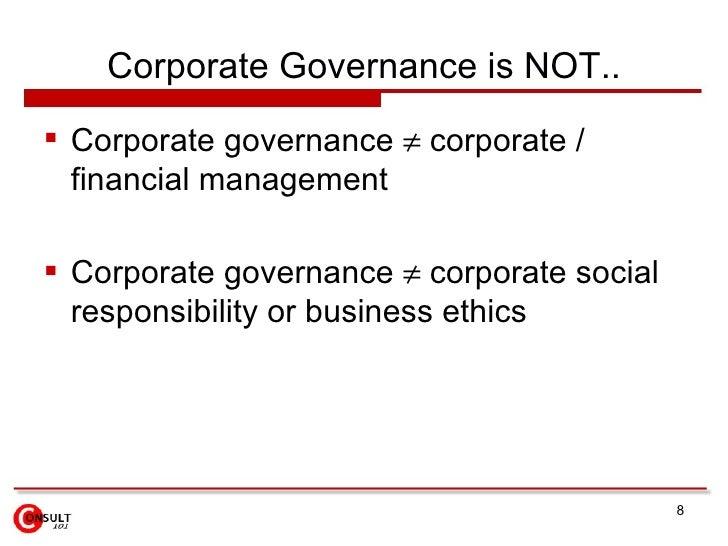 A Primer On Corporate Governance Pdf