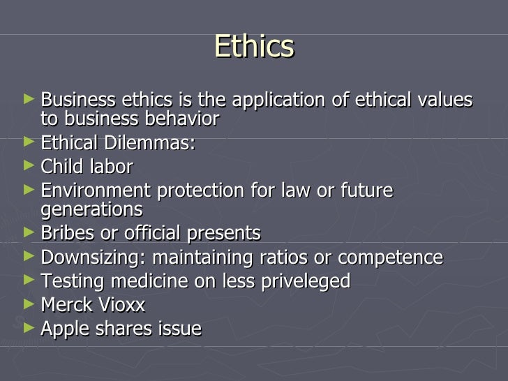 Vioxx ethical issues