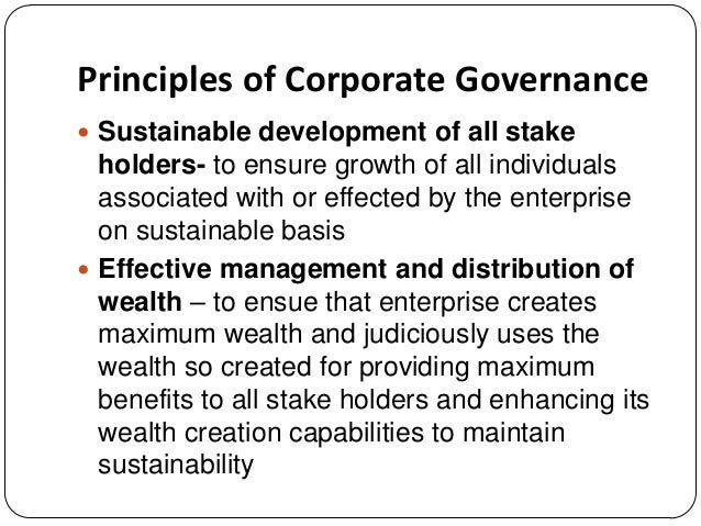 principles of corporate governance pdf