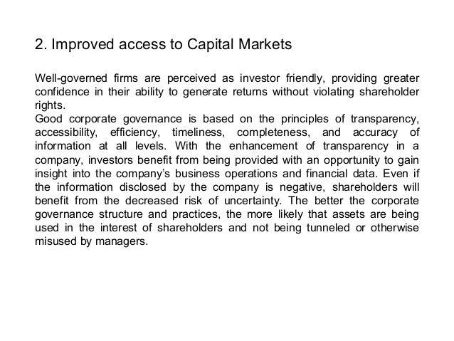 Corporate Governance Mechanisms (US Style)