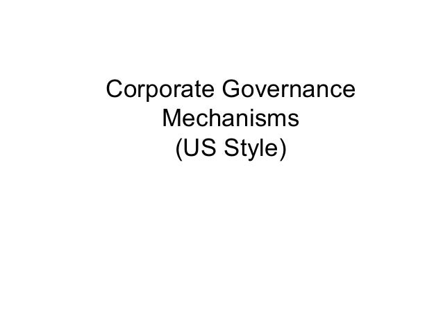Other Forms of Corporate Mechanism Large shareholders • • •  •  Separation of ownership and management is particularly a p...