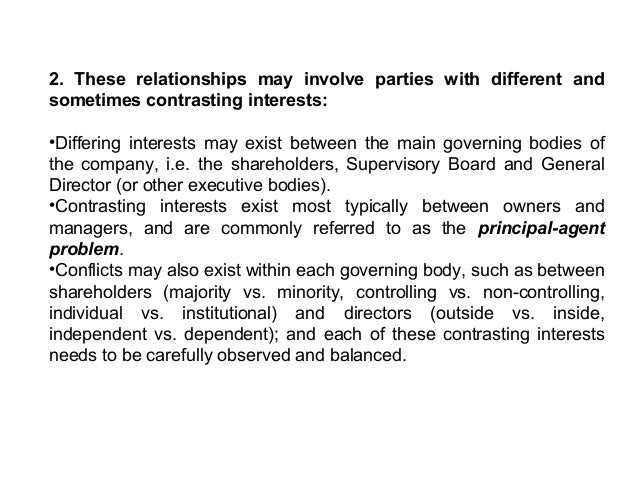 3. All parties are involved in the direction and control of the company •The Shareholders takes fundamental decisions, for...