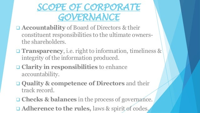 the external institutions of corporate governance Ways of mitigating or preventing these conflicts of interests include the processes, customs, policies, laws, and institutions which affect the way a company is controlled an external corporate governance controls.