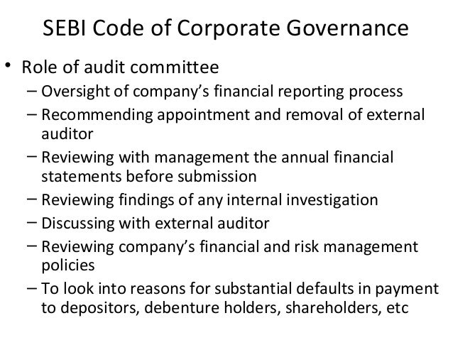 the role of external auditor in corporate governance Request pdf on researchgate | the role of external auditors in corporate governance: agency problems and the management of risk | this paper not only recommends means whereby principal-agent.