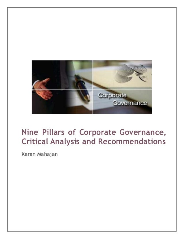analysis of corporate governance The implementation challenge for smes   corporate governance  governance for all: the implementation challenge for smes 5.