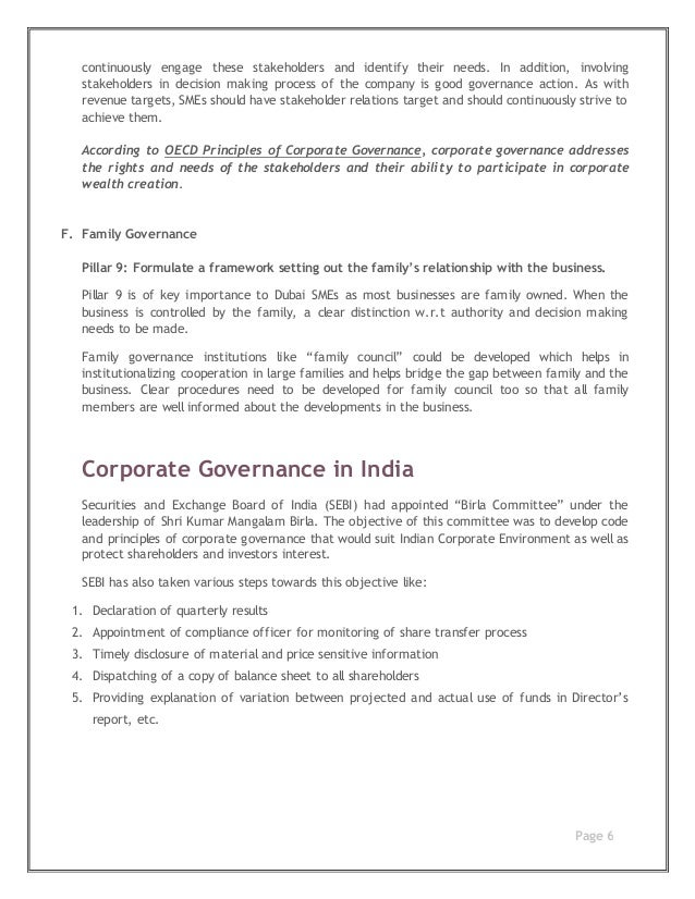 corporate governance is not for small Many smes consider that corporate governance is only relevant to large companies however, good governance presents major advantages for all companies, especially when raising capital or selling the business the majority of companies in australia are small-to-medium enterprises which often view.