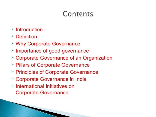 Corporate governance Slide 2