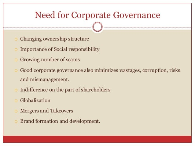 corporate governance 5 essay Governance challenges facing corporate boards richard m steinberg | january 20, 2009 as a change of pace from my usual monthly essay, i'm going to share some of those thoughts again here in an edited version.