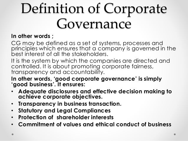 Thesis on corporate governance and risk management