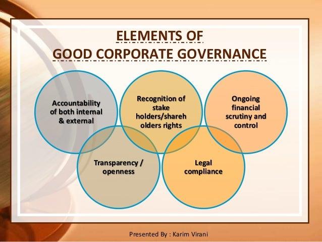 elements of good governance